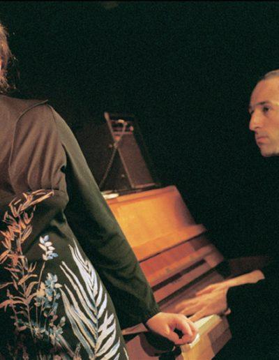 """""""Spoonfull – The Blues"""" Liederabend zusammengestellt von Barbara Bauer mit Michael Uhl am Piano, Nationaltheater Mannheim, © 2002 Nina Ruth Urban"""