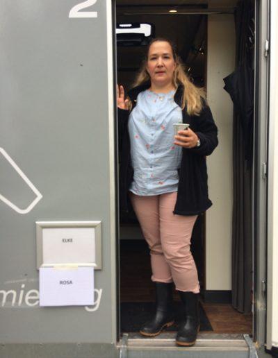 "als Elke bei den Dreharbeiten zu ""Bingo im Kopf"" ARD, Regie Christian Theede, © 2018"