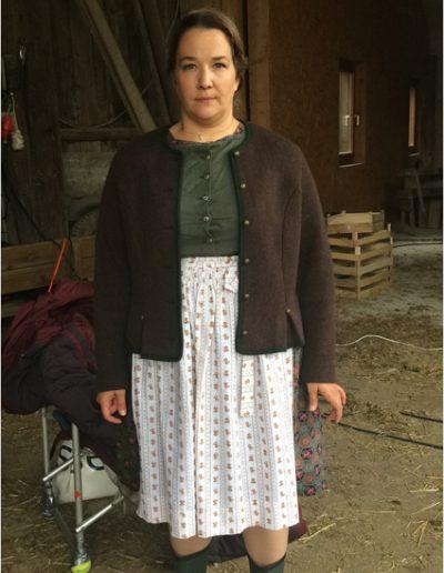 "als Regina Bauer bei den Dreharbeiten zu"" Die Rosenheimcops"" ZDF, Regie Herwig Fischer, © 2017"